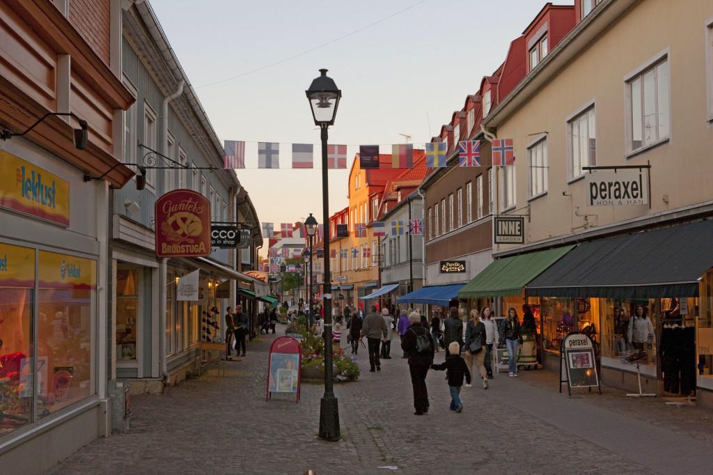 Ulricehamn centrum, gågatan. Foto: Jan Töve