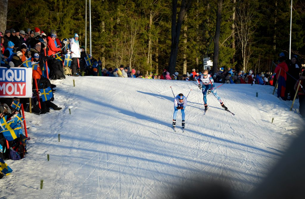 Skidåkare under Världscupen 21-22 januari 2017.