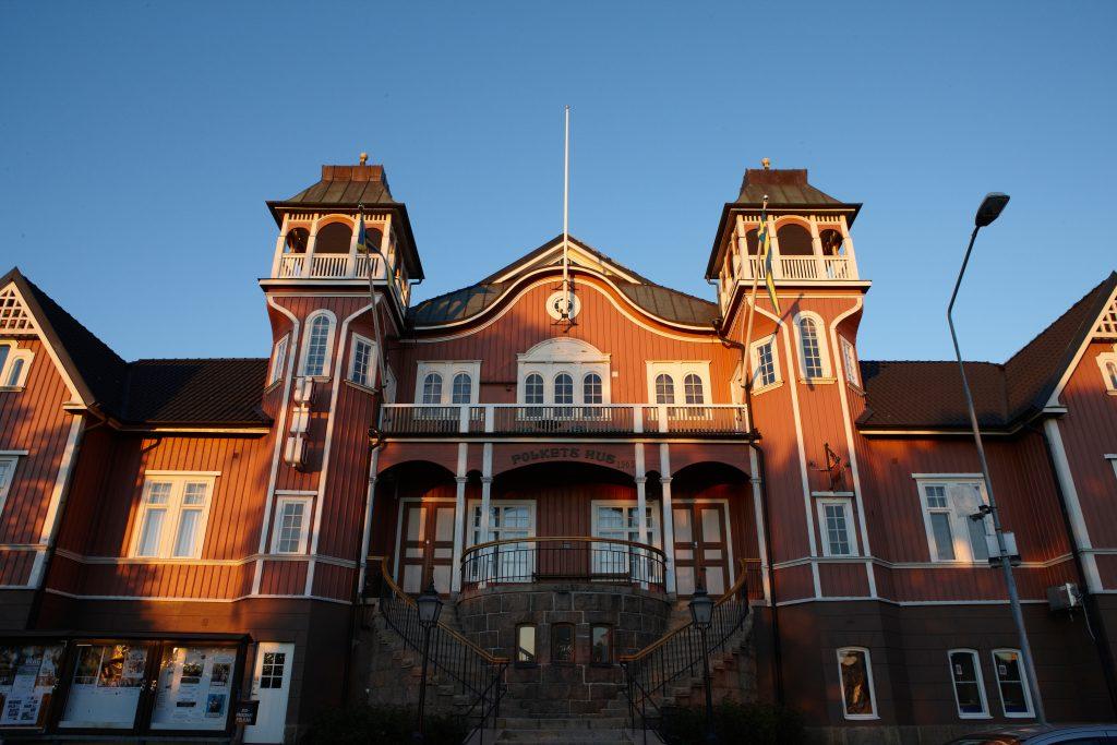 Bild på Folkets hus i Ulricehamn.