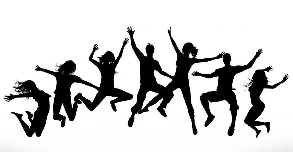 Illustration med människor som tränar