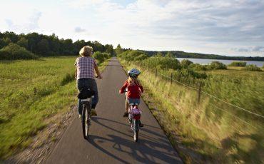 Cykelbana, banvallen. Foto: Jan Töve