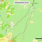 Bild på Marbäcksleden på en karta.