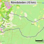 Bild på karta över Rönnåsenleden.
