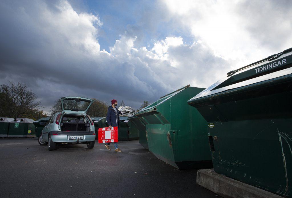 Återvinningsstation i Ulricehamn. Foto: Sören Håkanlind