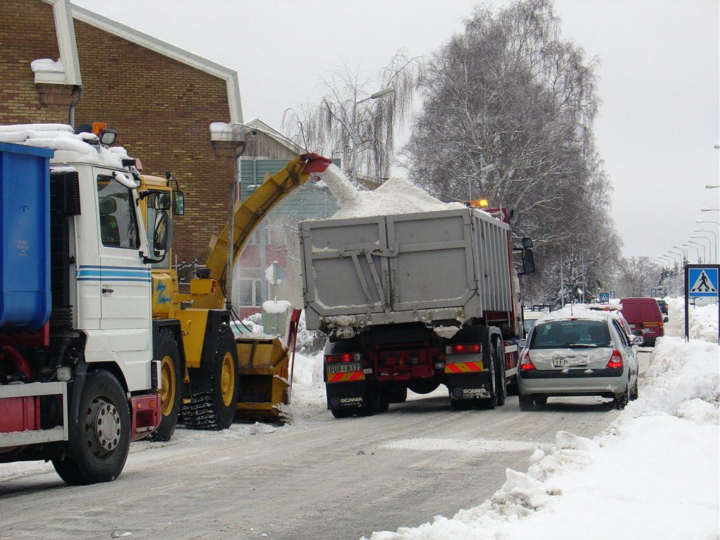 Snöröjning i Ulricehamn