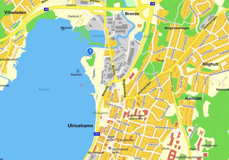 Sturebadet, karta från eniro.se