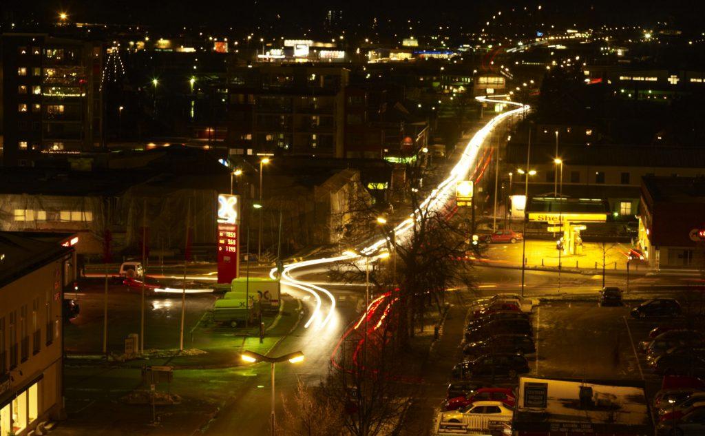 Ulricehamn nattetid. Foto: Jan Töve