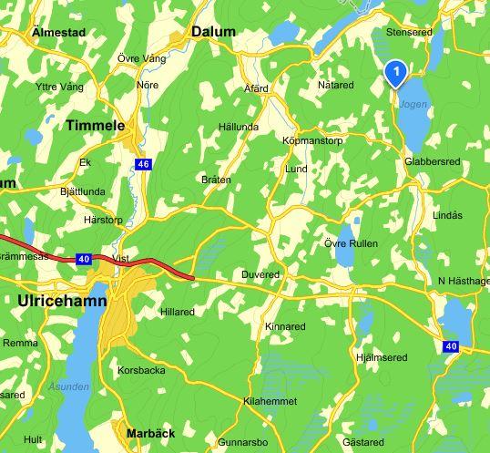 Varpaledet, karta från eniro.se