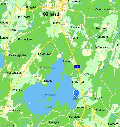 Bystadsjön, karta från eniro.se