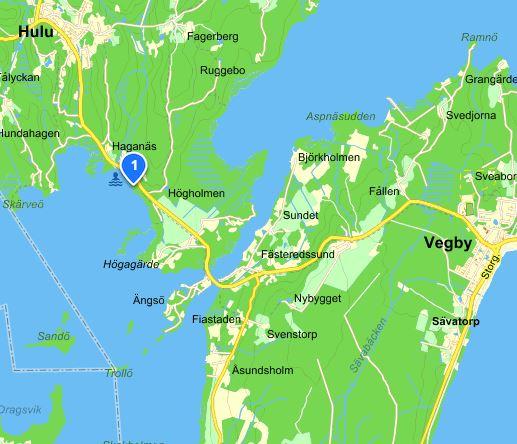 Bild på karta över Haganäsbadet.