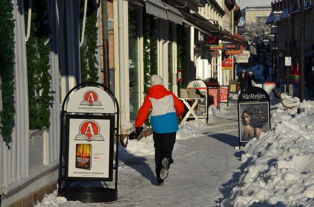 Gågatan i Ulricehamn. Foto: Charbel Sader