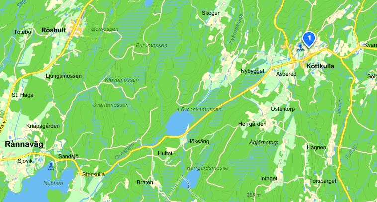 Köttkullasjön, karta från eniro.se
