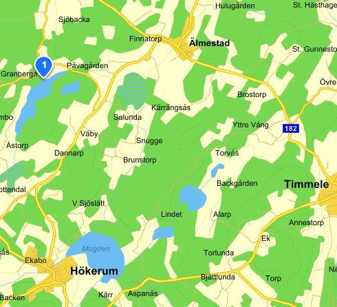 Stora Björken i Älmestad, karta från eniro.se