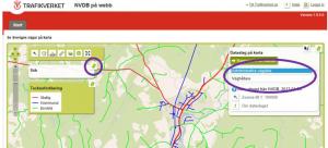 bild som visare Trafikverkets webbplats för Sveriges trafiknätverk