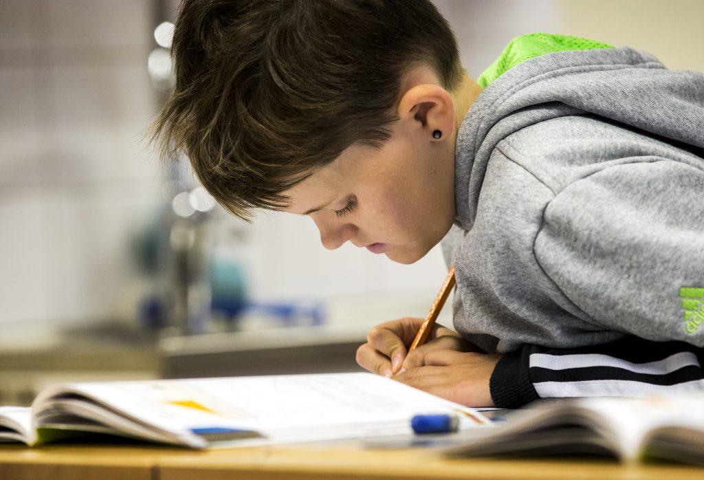 Elev på grundskolan. Foto: Sören Håkanlind