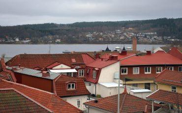 Vy över Ulricehamn och hustak. Foto: Charbel Sader