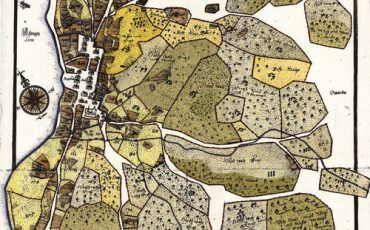 Kettil Classons karta över Bogesund 1643