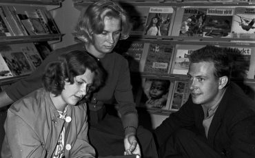 Biblioteksbesökare år 1963. Foto: Eric Hulander