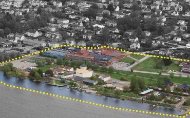 Området som är inringat på kartan ingår i planprogrammet Fiskebacken/Bunnsbo