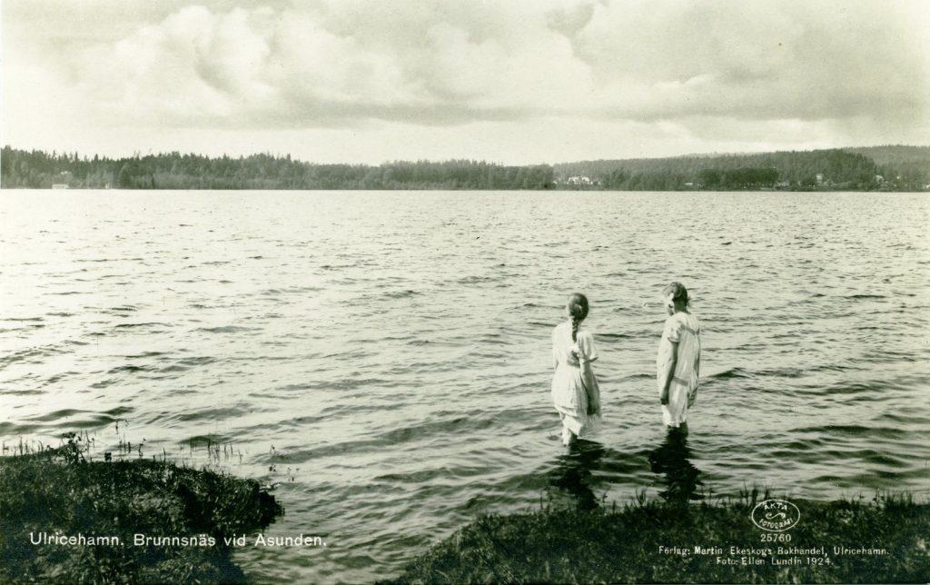 Vy från östra sidan av Åsunden år 1924. Foto: Ellen Lundin