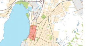 Karta med utpekat fornlämningsområde
