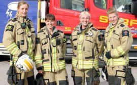 Bild på brandmän Foto: Södra Älvsborgs Räddningstjänstförbund