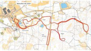 Karta över världscupsbanans 5-kilomtersträcka