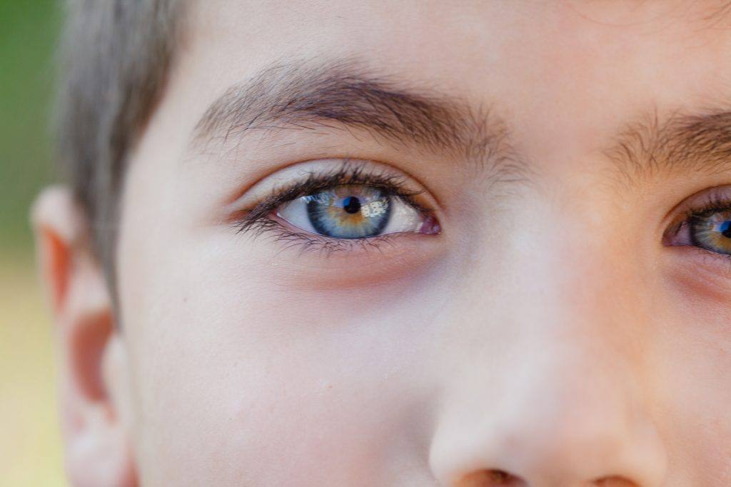 Närbild på ett barns ansikte
