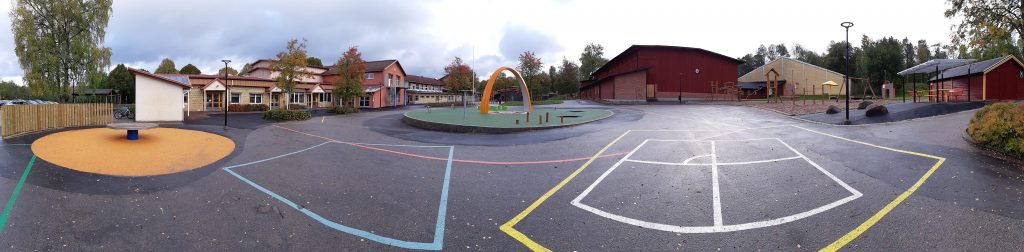 Skolgården i Hökerum ombyggd 2018