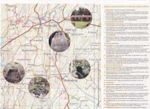 Häradsvägen på karta