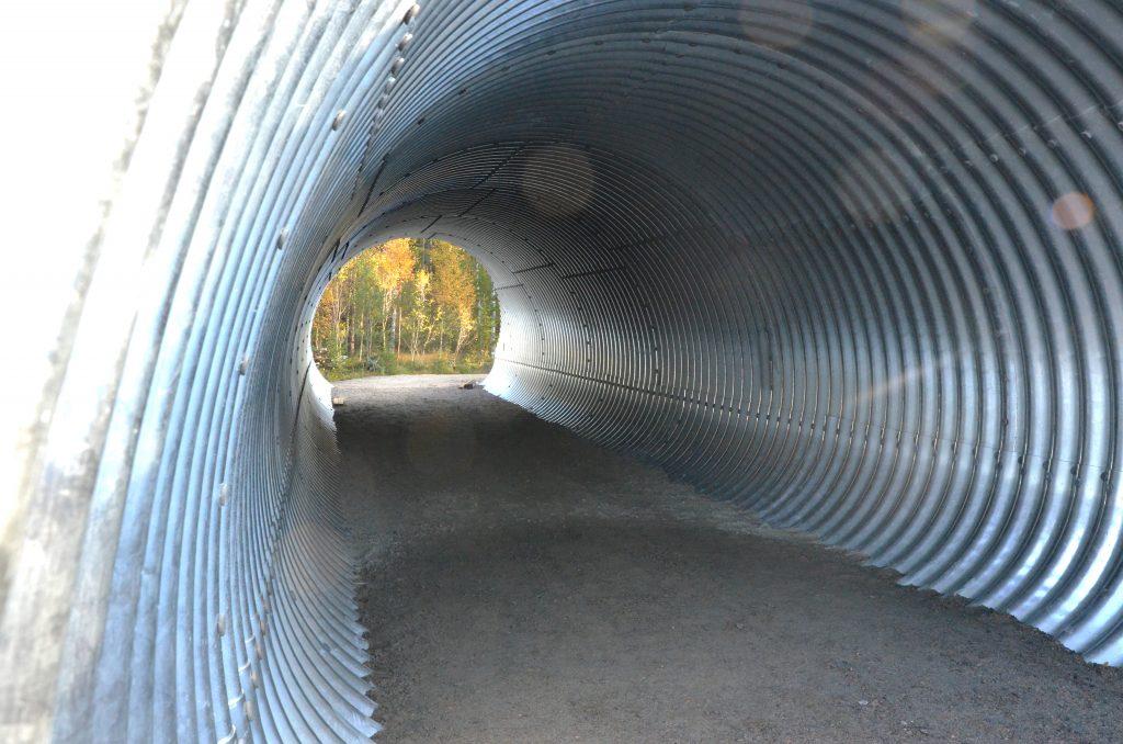 En av de tre publiktunnlarna längs världscupsspåret på Lassalyckan