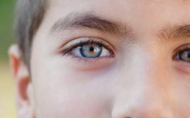 Ett barns ansikte i närbild