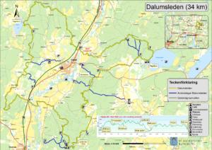 Karta över Dalumsleden