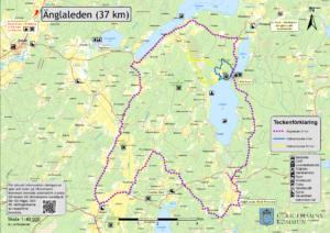 Bild på karta över Änglaleden