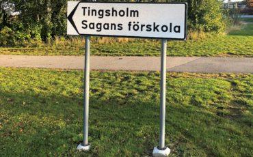 Skylt Tingsholm Sagans förskola