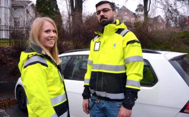 Våra miljöinspektörer Emilia och Bogdan