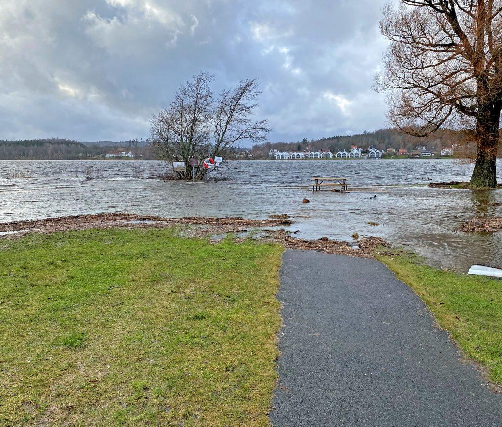 Översvämning Åsunden februari 2020