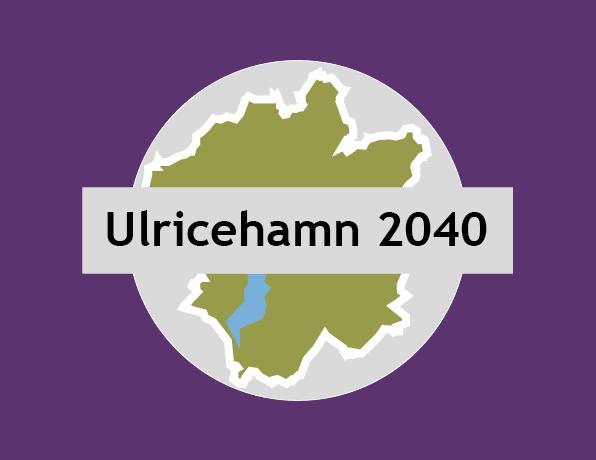 En kartskiss över Ulricehamns kommun med texten Ulricehamn 2040