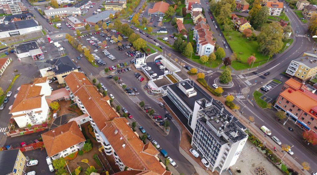 Flygfoto över Marknadsplatsen