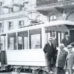 Spårvagnen 1911. Foto ur Ulricehamns musuems samlingar